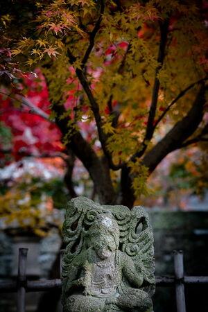 西向天神社の古い石像