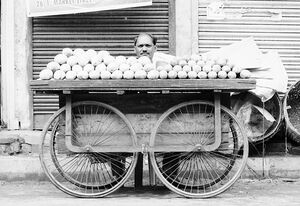 Mangoes on wagon