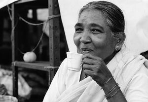 Woman drinking Chai