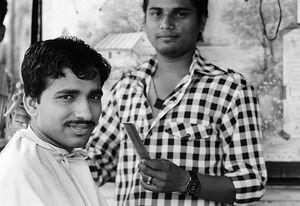 Men in barber