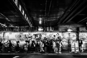 Under the elevated railway tracks in Shinokubo