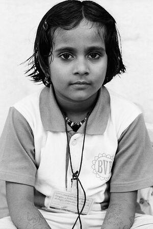 Girl with mehndi