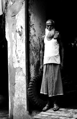 Bearded laborer
