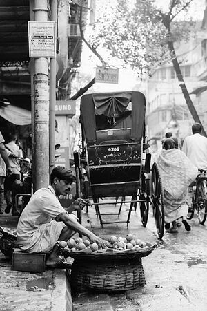 Fruit seller by roadside