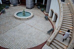 パティオの階段