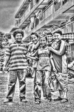 Cheerful boys