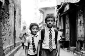 School boys with tie