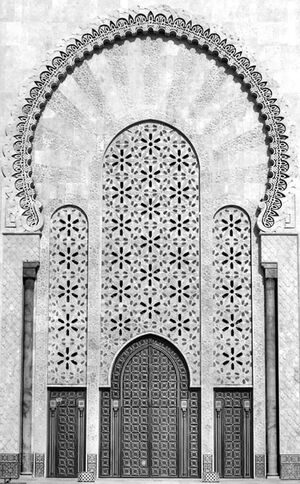 Entrance of Hassan II Mosque