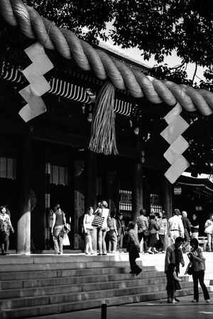 Sacred rope in Meiji Jingu