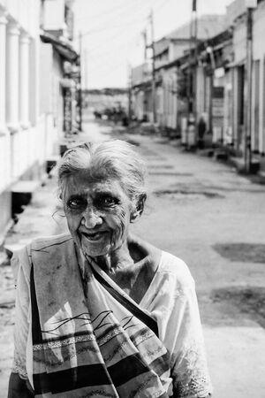 Older woman wearing saree