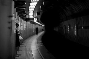 Woman standing on platform