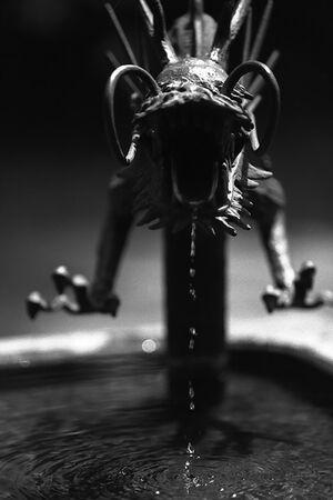 龍の形をした蛇口