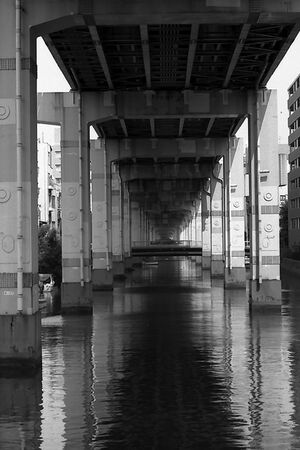 waterway under highway