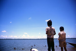 two boys at West Baray