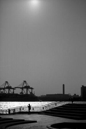 silhouette in Odaiba