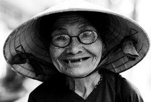 Cute smile of older woman