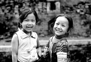 Girls laughing endearingly