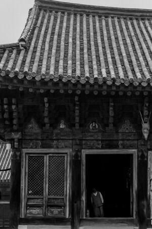 Figure standing in Daeungden