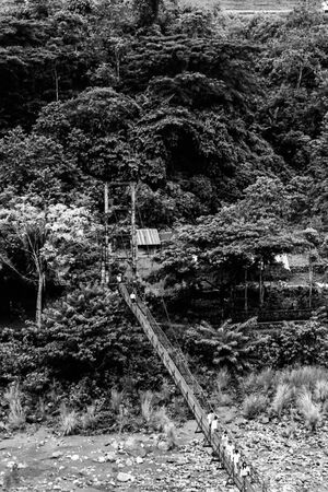 Suspension bridge in Tinglayen