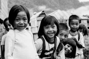 Children in mountain village