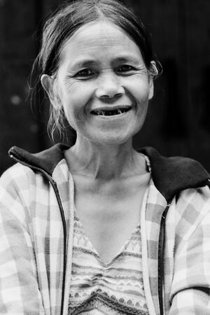 Tittered woman in Batad