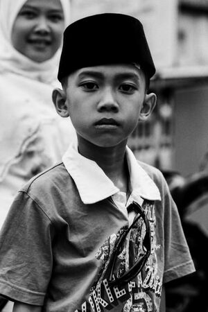 Boy wearing Sogkok