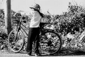 Bicycle and girl