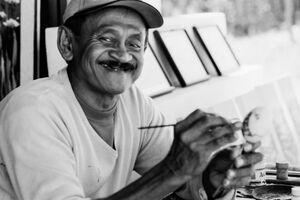 笑顔の画家