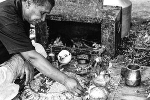 Man having a ritual