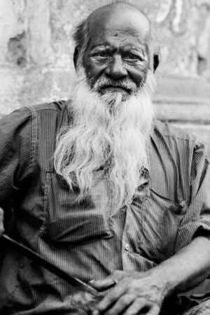 Man with long white beard