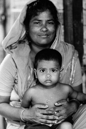お母さんと幼い息子