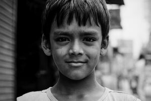 Boy with full-hearted eyes