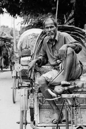 Rickshaw wallah waiting for customers