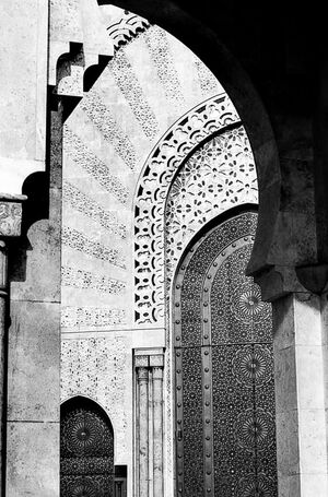 Arches in Hassan II Mosque