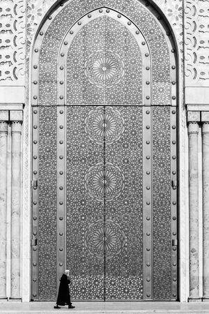 Huge door of Hassan II mosuque