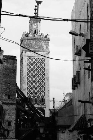 Minaret towering in old city