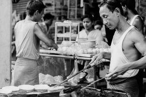 Man having food turners