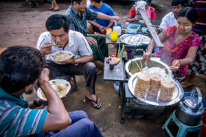 People eating noodle