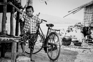 Boy striking pose