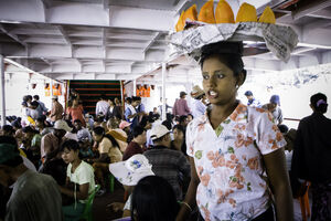 Woman selling melon