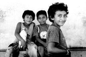 Eyes of three boys