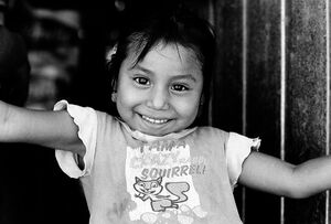 Girl with a exuberant smile