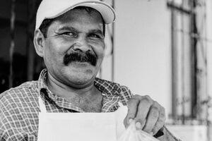 Man selling Taco