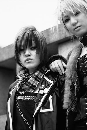 two girls in punk fashion