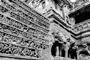 Decoration of Kailasanatha Temple in Ellora Caves
