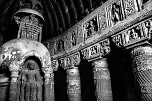 rock-cut temple in Ajanta