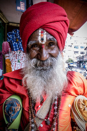 sadhu with bushy beard