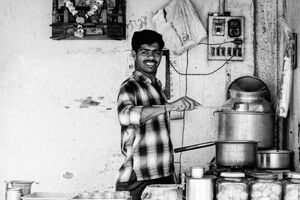 Man making Chai