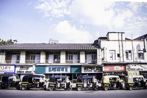 Line of auto rickshaw