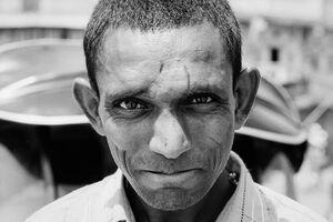 Straight eye of man